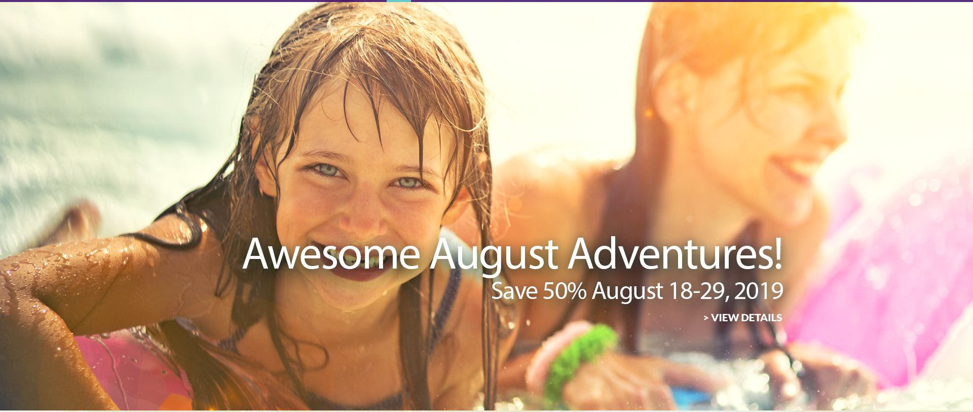 Advance season sale. 6 night special- Save 30%. Click to view details