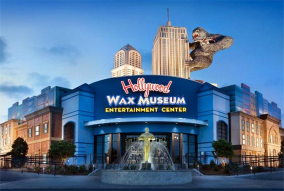 The entrance to the wax museum